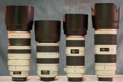 Compare Sizes Canon Zoom Lenses