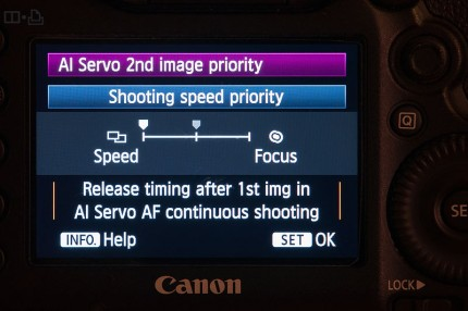 Grant Atkinson Canon 5d3 rear screen Ai servo menu