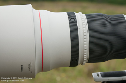 Canon 600 f4 IS ii side view