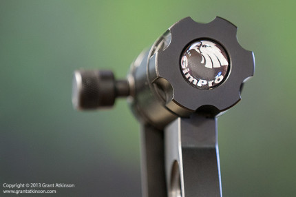 Roller-bearing pivot on the Gimpro with control knob.