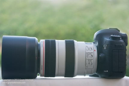 Side view, Canon lens EF70-300L