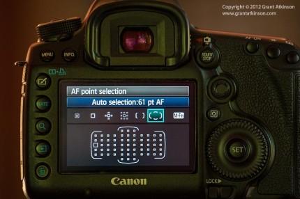 Canon 5Dmk3 autofocus point grid