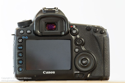 Canon 5Dmk3 rear view