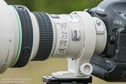 Canon EF 400 DO f4 IS lens barrel detail