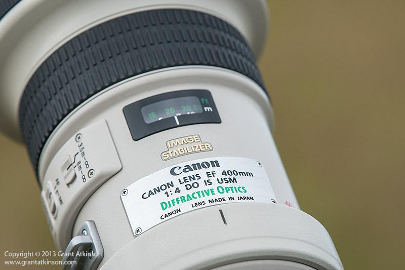 Canon EF 400 DO f4 IS lens barrel detail