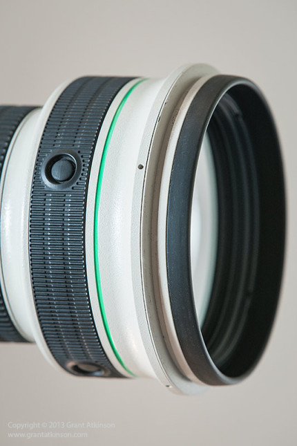 Canon EF 400 DO f4 IS front element and lens button