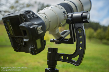 A close-up view of the Gimpro gimbal head.