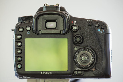 Rear view of the Canon EOS 7D.  Click for larger view