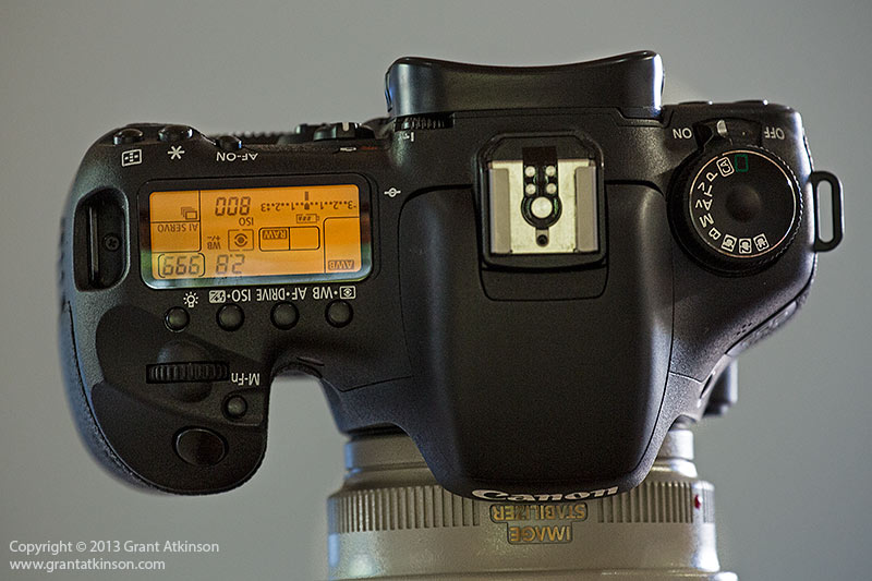 EOS 7D top lcd screen. Click for larger view