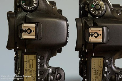 EOS 7D and EOS 70D eyepiece side view.  Click for larger view