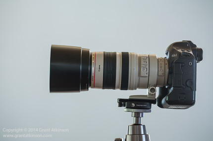 The EF 100-400L completely retracted, at 100mm focal length